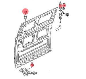 vw bus t2 t3 lager rollensatz f r schiebet r. Black Bedroom Furniture Sets. Home Design Ideas