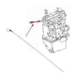 VW Bus T2 T3 Ölpeilstab / Ölmessstab Diesel