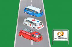 VW Bus T2 Feuerwehr-, Airport-, Krankenwagen-Bus Schokolade