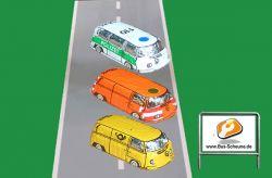 VW Bus T2 Polizei-, Post-, Baustellen-Bus aus Schokolade