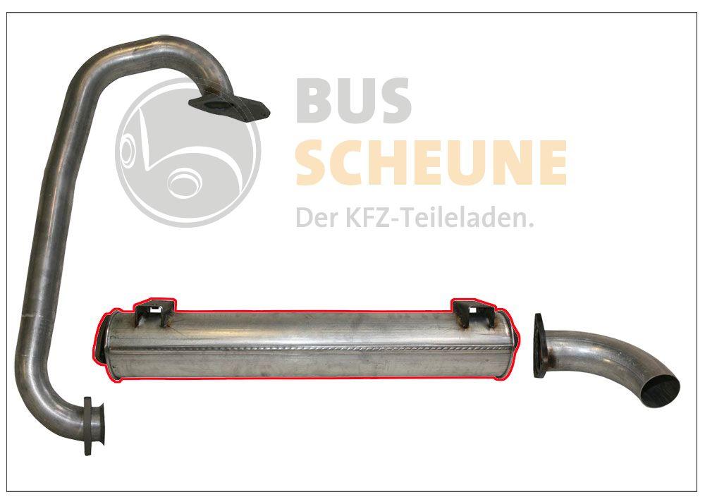 VW Bus T2 T3 1,6 TD JX Endtopf Auspuff Endschalldämpfer Turbodiesel geschraubt