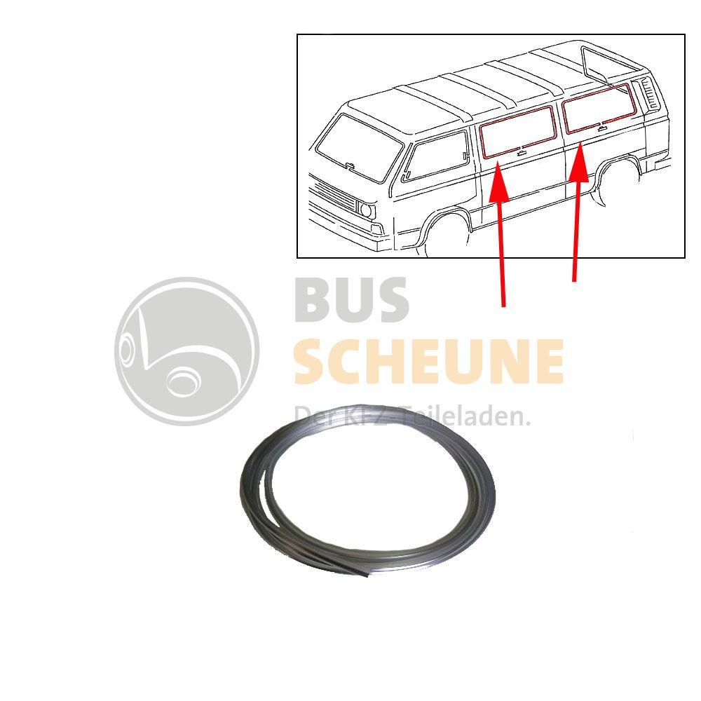 vw bus t2 t3 zierleiste in chrom f r seitenscheibe. Black Bedroom Furniture Sets. Home Design Ideas