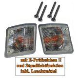 VW Bus T2 T3 Blinker vorn weiß mit Standlichtfunktion